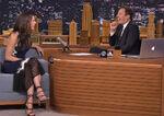Sandra Bullock visits Jimmy Fallon