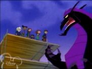 The Dark Dragon talking to the Oracles