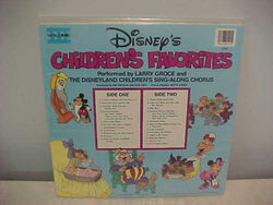 Disneys childrens favorites volume 3 lp back cover