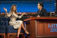 Jennifer Esposito visits Stephen Colbert