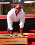 Dwayne Johnson at Chinese Theatre handprint ceremony