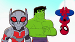 Spider-Man, Hulk and Ant-Man in Marvel Super Hero Adventures