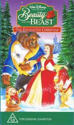 Beauty and the Beast The Enchanted Christmas 1997 AUS VHS