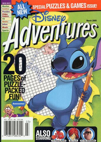File:Disney Adventures Magazine cover March 2005 Stitch.jpg