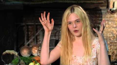 "Maleficent Elle Fanning ""Aurora"" On Set Movie Interview"