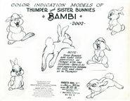 Thumper &Bunny sister modelsheet