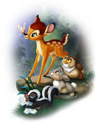 Bambi character art