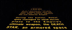 Star Wars A New Hope Opening Crawl