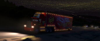 Mack Traveling at Night
