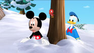 Mickey, donald and baby red bird