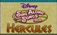 Disney Sing Along Songs From Hercules Title Card