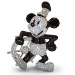 Steamboat Willie Mickey Mouse Figurine by Arribas - Jeweled