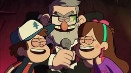 GF S2A1 Dipper Stan Mabel samen zingend