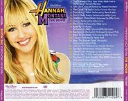 Hannah Montana The Movie CD Back Cover