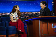 Marisa Tomei visits Stephen Colbert