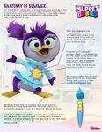 Summer Penguin Muppet Babies 2018 press sheet, Disney Junior