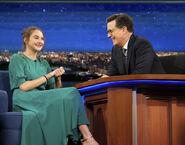 Shailene Woodley visits Stephen Colbert