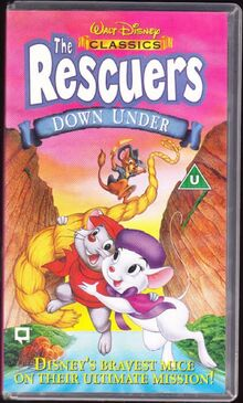The Rescuers Down Under 1997 UK VHS