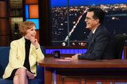 Carol Burnett visits Stephen Colbert