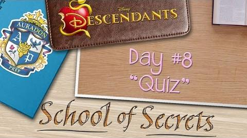 Day 8 Quiz School of Secrets Disney Descendants