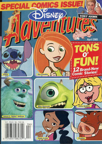 File:Disney Adventures Magazine cover April 2003 comics Kim Possible.jpg