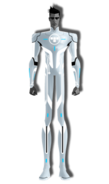 Footer character tron