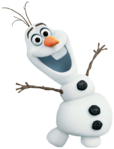 Olaf transparent pose