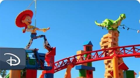 Jessie & Rex Arrive in Toy Story Land at Disney's Hollywood Studios