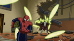 Beetle attacking Spider-Man USM
