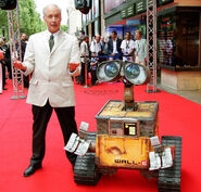 Ben Burtt with WALL-E statue at movie premiere