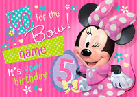Card Disney MinnieBow Age5 L