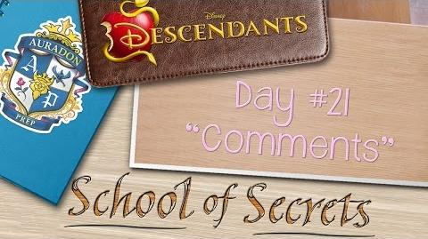 Day 21 Comments School of Secrets Disney Descendants