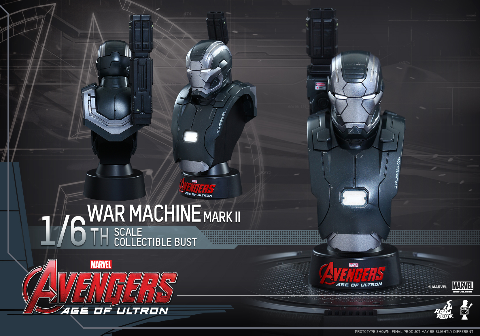 Image Hot Toys Avengers Age Of Ultron 1 6 War Machine Collectible Bust Pr1