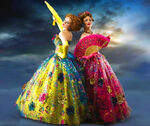 Anastasia and Drizella in ball gowns 2