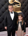 Patton Oswalt & daughter Alice 61st Grammys