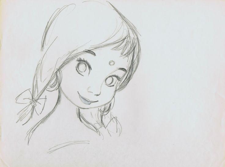 Line Drawing Wiki : Image the jungle book shanti drawing g