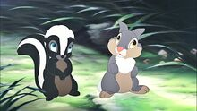 Walt Disney Screencapture of Flower and Thumper from Bambi 2 (2006)