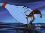 Aladdin- Genie kissing the carpet