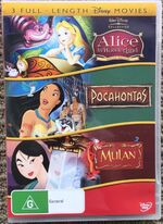 Alice in Wonderland Pocahontas and Mulan 2007 AUS DVD