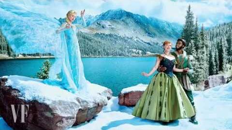 Behind-the-Scenes FROZEN Vanity Fair Photo Shoot