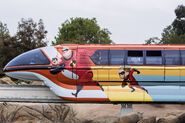 Incredibles Themed Monorail Overlay