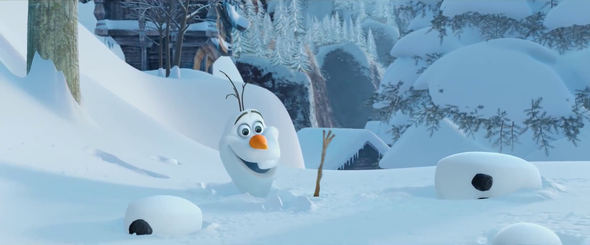 Olaf In The Promotional Ad For Sky Movies.