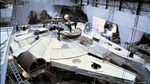 Millennium Falcon under construction for The Empire Strikes Back