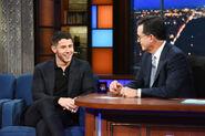 Nick Jonas visits Stephen Colbert