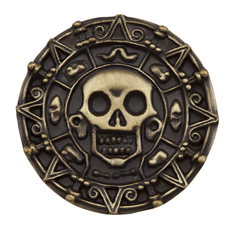 Round Brass Captain Teague Pirate Belt Buckle from the Pirates of the Carribean