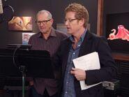 Andrew Stanton supervises Ed O'Neill's recording
