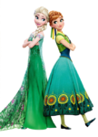 Elsa and Anna Frozen Fever Render
