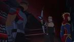 Falcon, Hawkeye, Captain Marvel - Triple Face(Secret Wars 001)