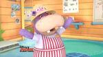 Hallie with a summer hat