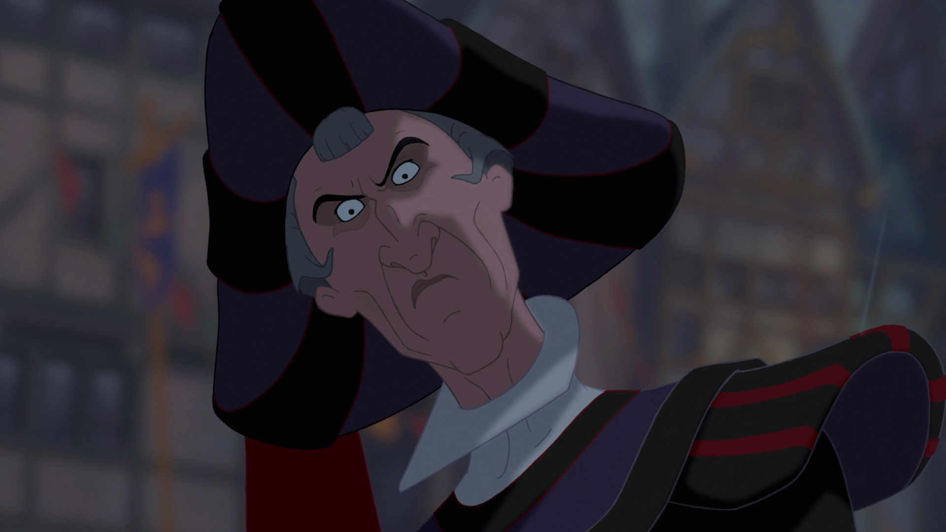 notre dame character analysis of claude frollo Claude frollo timeline and summary back next  frollo is born to a wealthy bourgeois family who own a good chunk of paris his parents decide to make a churchman out of him, so he goes to school to study latin and other scholarly things.